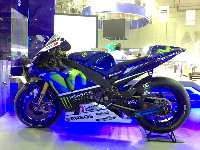 Sieu moto Yamaha M1 xuat hien tai trien lam xe may Viet Nam hinh anh