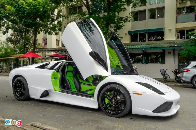 Lamborghini Mucielago LP640 mau xanh com anh 3