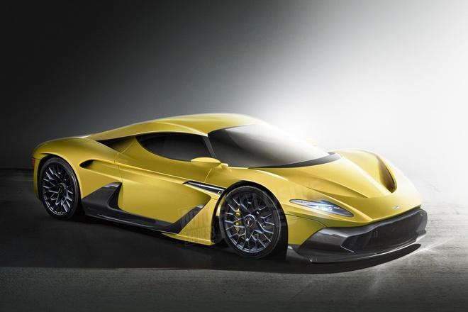 Aston Martin sap co sieu xe canh tranh Ferrari 488 hinh anh