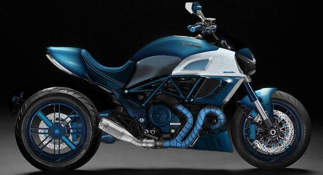 Ducati Diavel ban do carbon xanh doc dao hinh anh 1