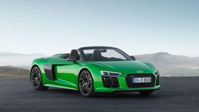 Audi R8 Spyder V10 Plus moi manh ngang Lamborghini Huracan hinh anh