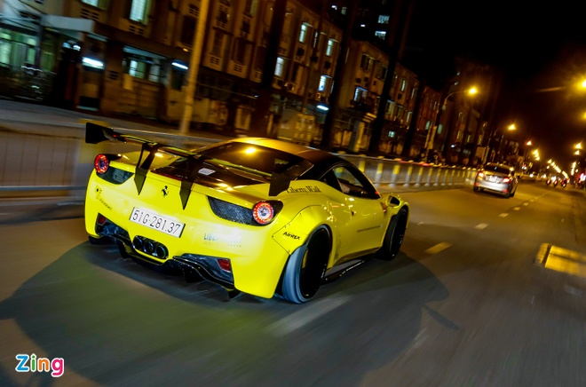 Sieu xe Ferrari 458 do than rong Liberty Walk dau tien tai Viet Nam hinh anh 10