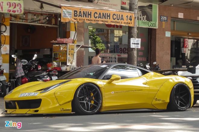 Sieu xe Ferrari 458 do than rong Liberty Walk dau tien tai Viet Nam hinh anh 7