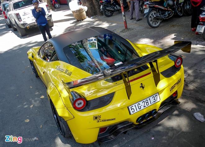 Sieu xe Ferrari 458 do than rong Liberty Walk dau tien tai Viet Nam hinh anh 8