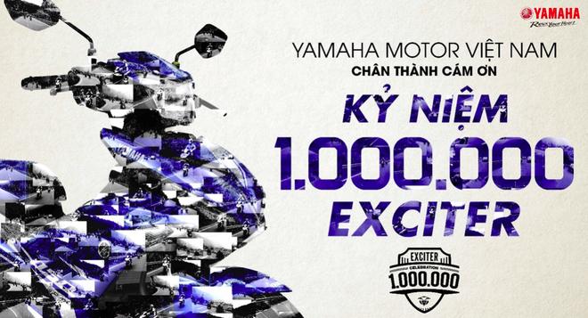 Yamaha lap ky luc the gioi mung 1 trieu Exciter duoc ban ra hinh anh 2