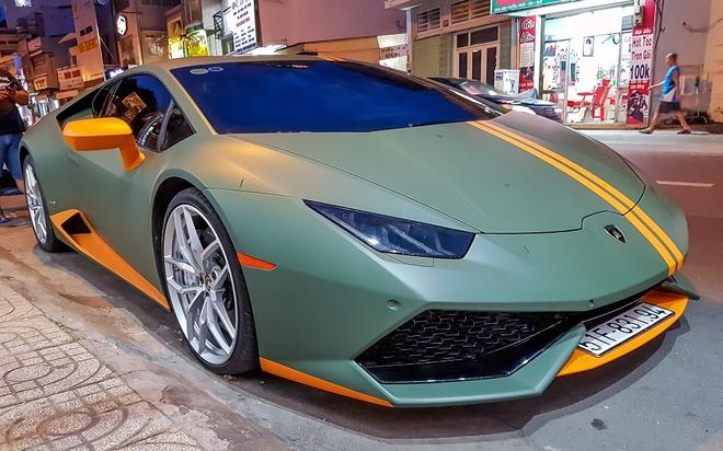 Lamborghini Huracan phong cach may bay chien dau o Sai Gon hinh anh