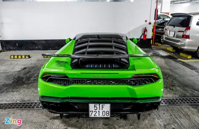 Sieu xe Lamborghini Huracan do duoi ham de xe o Sai Gon hinh anh 5