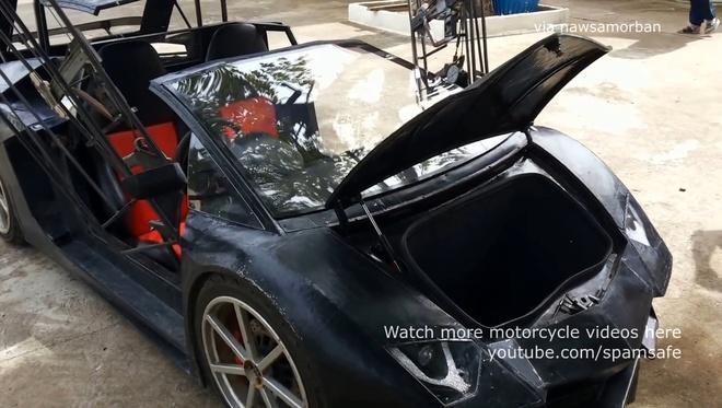 Nong dan Thai Lan che tao Lamborghini Aventador Roadster nhai hinh anh 7