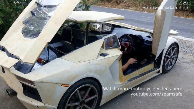 Nong dan Thai Lan che tao Lamborghini Aventador Roadster nhai hinh anh 10