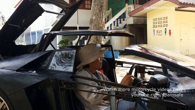 Nong dan Thai Lan che tao Lamborghini Aventador Roadster nhai hinh anh 3