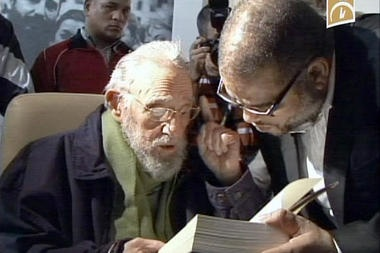 Cuu chu tich Fidel Castro bat ngo xuat hien truoc cong chung hinh anh