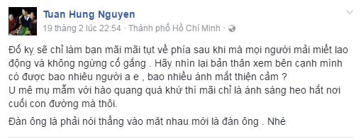 Tuan Hung phu nhan noi xau Duy Manh hinh anh 1