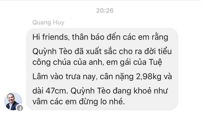 Pham Quynh Anh sinh con thu 2 anh 1