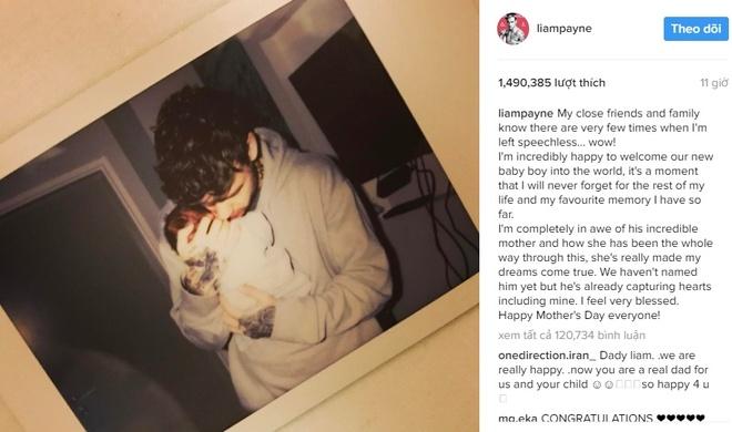 Liam Payne va Cheryl sinh con anh 1