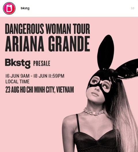 Ro thong tin Ariana Grande bieu dien tai TP.HCM vao thang 8 hinh anh 1