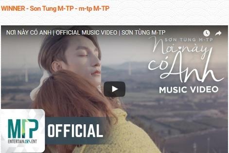 Son Tung thang giai Album xuat sac nhat tai SBS PopAsia 2017 hinh anh 1