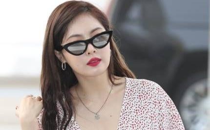 HyunA mac goi cam, len duong sang Viet Nam bieu dien hinh anh
