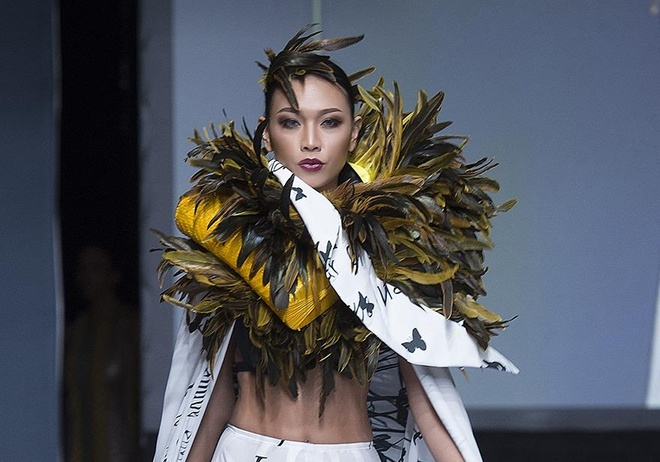 Dieu Huyen lam vedette tai tuan le thoi trang Couture New York hinh anh