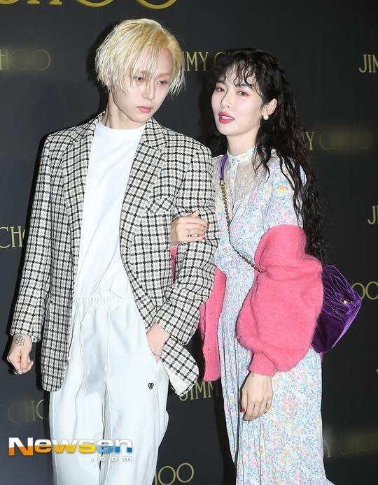 HyunA kém sắc trong lần đầu xuất hiện bên bạn trai
