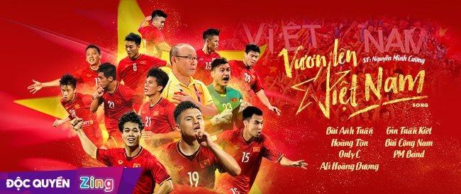 Ca khúc Vươn lên Việt Nam được phát hành độc quyền trên Zing MP3.