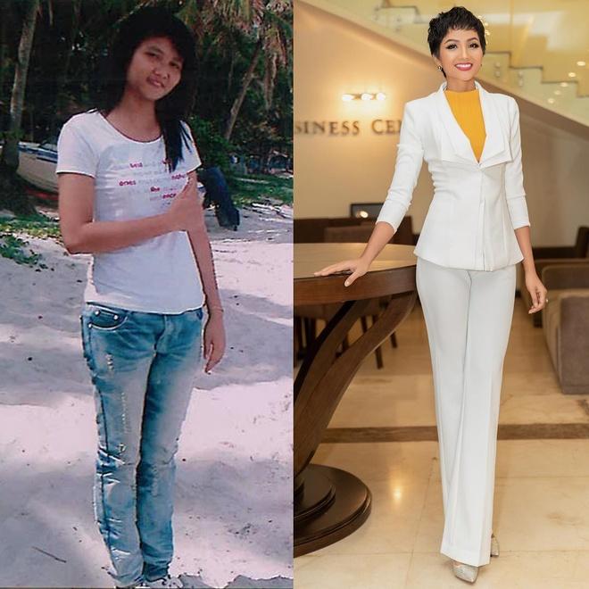 Sao Viet tham gia 'thu thach 10 nam': H'Hen Nie thay doi ngoan muc hinh anh 1