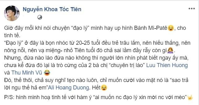 Toc Tien dap loi Ali Hoang Duong vu bi dan em da deu luot xem MV hinh anh 1