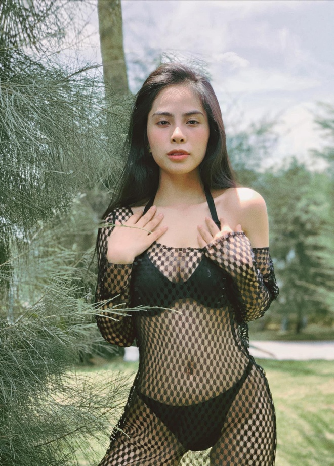 Ca nuong Kieu Anh dang anh dien bikini khoe vong mot 90 cm hinh anh 5