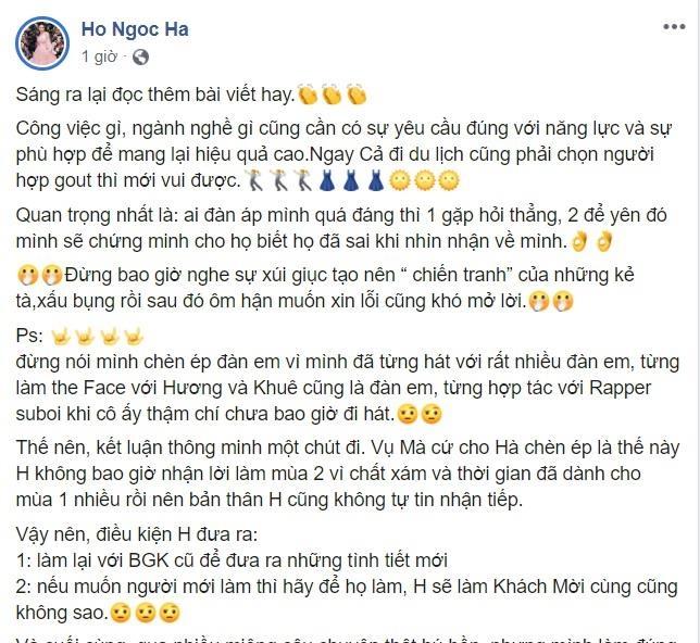 Ho Ngoc Ha len tieng ve on ao chen ep Minh Hang sau 2 nam hinh anh 1
