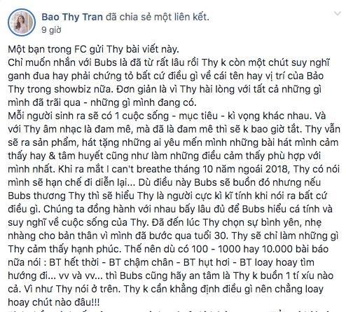 Bao Thy len tieng khi bi che het thoi, so sanh voi Dong Nhi hinh anh 1