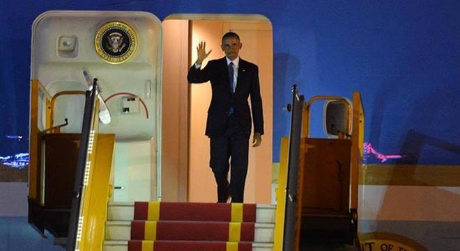 Tong thong Obama da den Ha Noi hinh anh