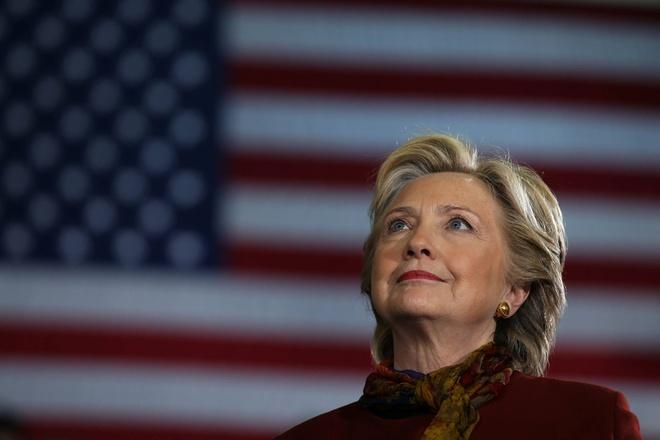 Ba Clinton thang da so phieu pho thong hinh anh