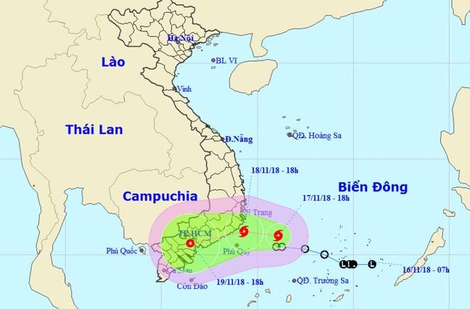 Bão số 8 chệch xuống đồng bằng Nam Bộ, gây mưa lớn diện rộng