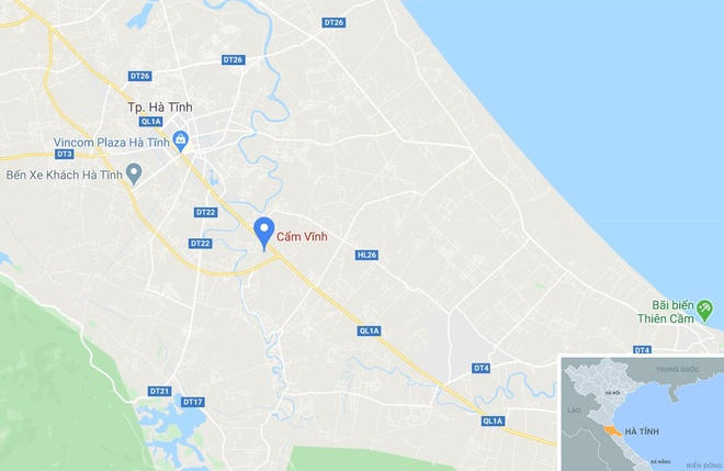 Oto tai lam roi da phu day mat duong quoc lo hinh anh 3 map_hatinh_cv.jpg