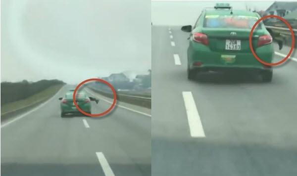 Clip taxi Mai Linh phong nhu bay khi co nguoi du tren nap capo hinh anh