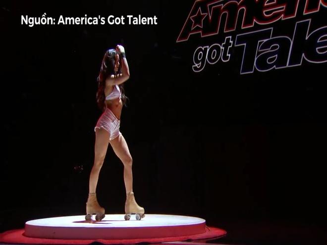 Man mua tren patin cua cap doi nong bong tai America's Got Talent hinh anh