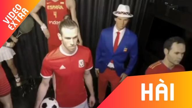 Gareth Bale gia lam tuong sap de doa khach tham quan hinh anh