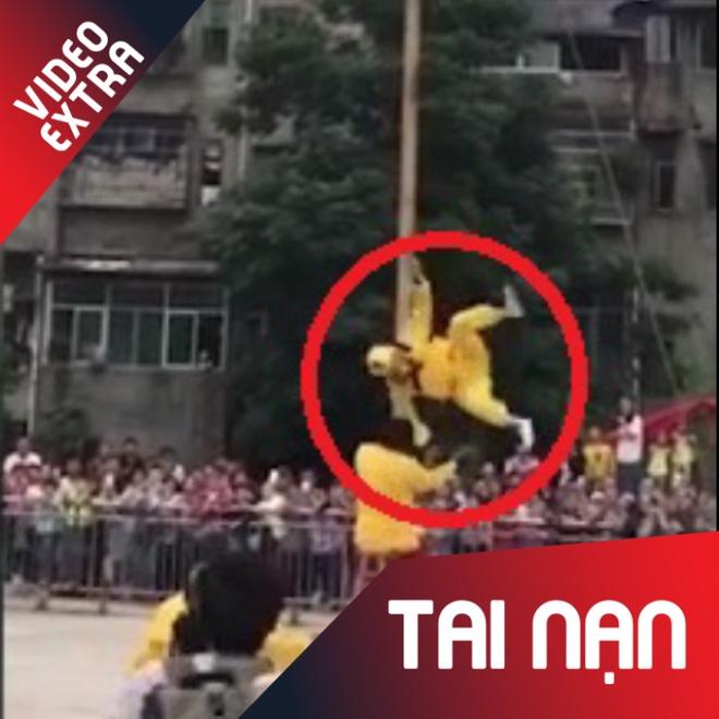 Ton Ngo Khong 'het phep' roi o do cao 10m khi bieu dien o Trung Quoc hinh anh