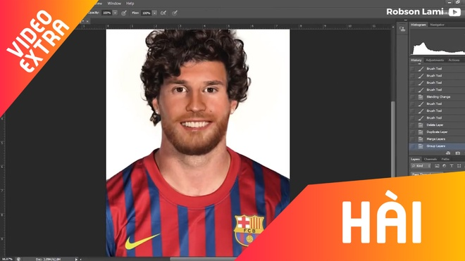 Hinh anh 'con lai' cua Ronaldo va Messi tu phan mem chinh sua anh hinh anh