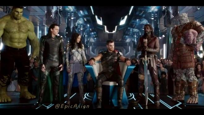 Ke chuyen Avengers: Infinity War bang tieng Anh kieu Thai hinh anh