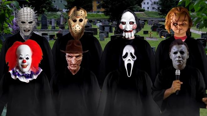 Dan hop xuong sat nhan hat 'Kill the world' don chao Halloween hinh anh