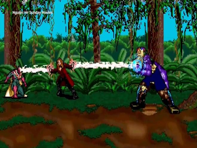 Thanos dai chien cac sieu anh hung phien ban 16 pixel hinh anh