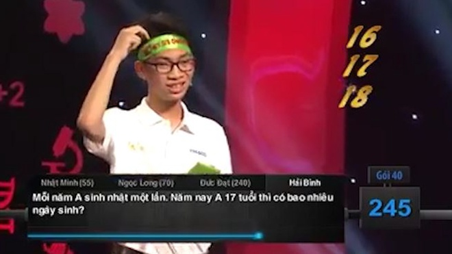 Cau hoi don gian 'ha guc' 4 thi sinh Duong len dinh Olympia hinh anh