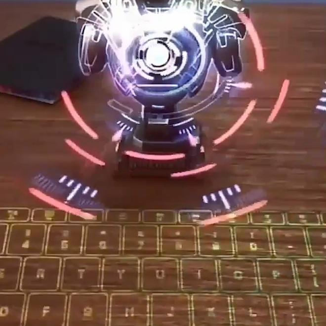 Ban phim ao doc dao, chieu laser 3 chieu hinh anh