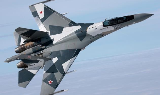 Chien dau co Su-35S cua Nga bay tren bau troi Syria hinh anh