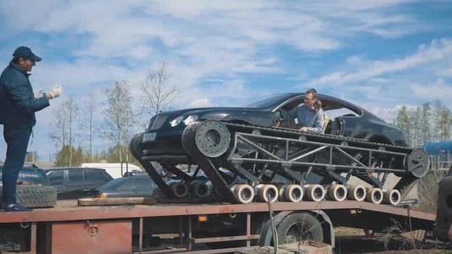 Qua trinh bien sieu xe Bentley thanh xe tang hinh anh