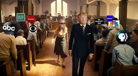 TT Trump xa sung ban giet tan bao bao chi trong video che hinh anh