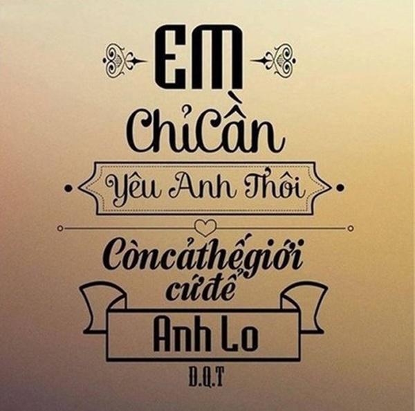 Sot Trao Luu 'Em Chi Can...The Gioi De Anh Lo'