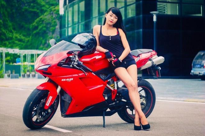Co gai Quang Ninh sinh nam 1996 cuoi Ducati gay chu y hinh anh 3