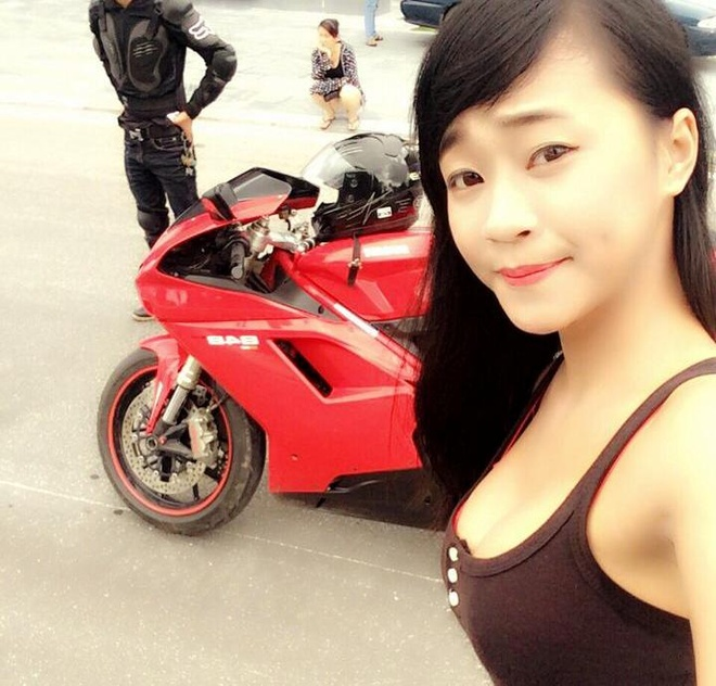 Co gai Quang Ninh sinh nam 1996 cuoi Ducati gay chu y hinh anh 12
