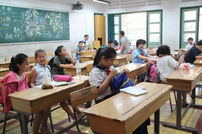 Một buổi học luyện thi vào lớp 6 trường THPT Trần Đại Nghĩa của học sinh các trường trong TP.HCM. Ảnh: Như Hùng